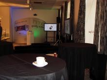 Кетъринг: Презентация в зала Шампанско на новите HTC мобилни апарати, 50 гости - 05.11.2009г.