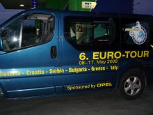 Кетъринг: VI EURO-TOUR-Slovenia-Croatia-Serbia-Bulgaria-Greece-Italy, 180 гости-10.05.2008г