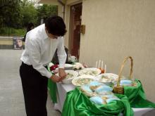 Кетъринг: Презентация на фирма Сарантис 25 гости-4.05.2008г
