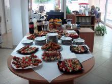 Кетъринг: Коктейл в центъра по слухопротезиране Славина , 40 гости - 27.06.2009г