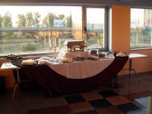 Кетъринг: Коктейл в сградата на Юроспиид ООД, 35 гости - 01.10.2009г.