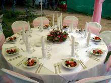 Кетъринг: Сватбено тържество на тенис корт гр. Банкя, 120 гости - 13.09.2008г